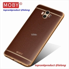 MOBY Huawei Mate 10 Mate10 Leather TPU Back Case Cover Casing