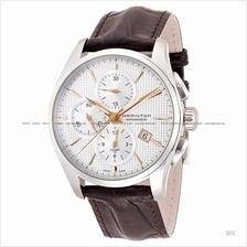 HAMILTON H32596551 Men's Jazzmaster Auto Chrono leather silver brown
