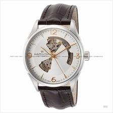 HAMILTON H32705551 Men's Jazzmaster Open Heart Auto leather brown