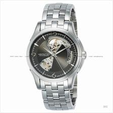 HAMILTON H32565185 Men's Jazzmaster Open Heart Auto SS bracelet grey