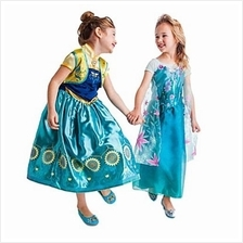 SWEET MANDARIN COLLAR SHORT SLEEVE FLOWER PRINT LONG DRESS FOR GIRLS (