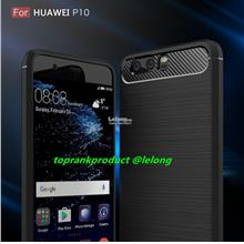 Huawei P10 Lite Plus Soft Rugged Armor Silicone Back Case Cover Casing