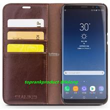 Qialino Cow Leather Samsung Galaxy S8 S8+ Plus Flip Card Case Casing