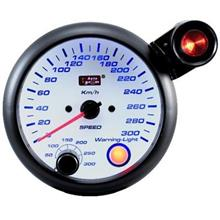 AUTOGAUGE 95mm Blue Racer (White Face) Speed Meter   [222]