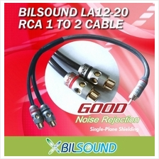 BIL-SOUND LA12-20 High Quality 1M to 2F RCA Cable Made In Germany