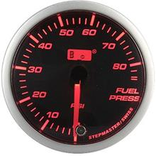 AUTOGAUGE 60mm Super Amber and White Fuel Press Meter  [308]