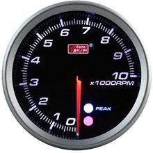 AUTOGAUGE 80mm Amber, White and Blue (Black Face) RPM Tachometer [126]