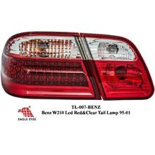 BENZ W210 E-Class EAGLE EYES Red & Clear LED Tail Lamp Lights