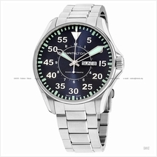 HAMILTON H64715145 Men's Khaki Aviation Pilot Auto Day Date bracelet