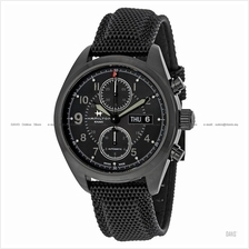 HAMILTON H71626735 Men's Khaki Field Auto Chrono rubber leather black