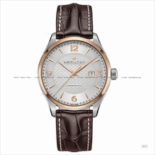 HAMILTON H42725551 Men Jazzmaster Viewmatic Auto leather silver brown