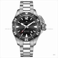 HAMILTON H77605135 Men's Khaki Navy Frogman Auto SS bracelet black
