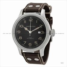 HAMILTON H60515533 Men's Khaki Field Pioneer Auto leather black brown