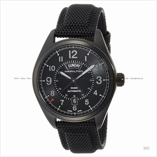 HAMILTON H70695735 Men Khaki Field Day Date Auto rubber leather black