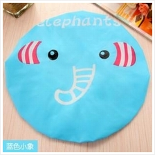 Cute Cartoon Shower Cap (Blue Elephant)