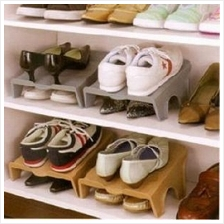 Plastic Shoe Rack for Two Pairs of Shoes