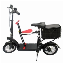 Foldable Electric Bike with Kid Seat
