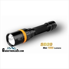 Fenix SD20 Diving CREE XM-L2 U2 + CREE XQE Red LED Flashlight