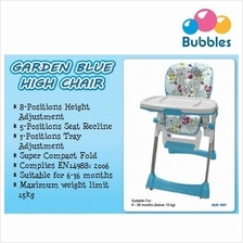 Bubbles Baby Garden Blue High Chair (BUE1007)