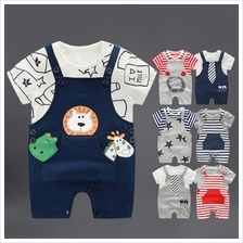 Newborn Baby Boy Children Summer Toddler Bib Jumpsuits