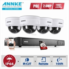 ANNKE 2MP 1080P Dome Cameras Included 2TB Seagate HDD CCTV NVR