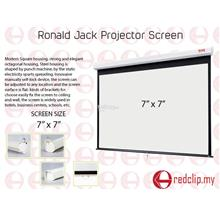 Ronald Jack Manual Wall Projector Screen 7' x 7'