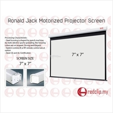 Ronald Jack Motorized Projector Screen 7' x 7'