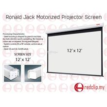 Ronald Jack Electric Motorized Projector Screen 12' x 12'