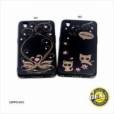 NEW Classic Black Cartoon Fashion Case for Oppo A37 FREE iRing