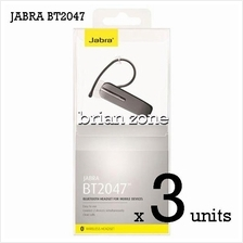 3 Units Jabra BT2047 Wireless Bluetooth Headset (2 Years Warranty)