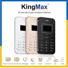 KingMax X8 Mini Mobile SIM Card Phone Basic Bluetooth Cellphone