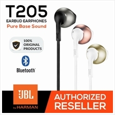 JBL T205 Earbud Pure Sound Wired Headphones - Original Authentic