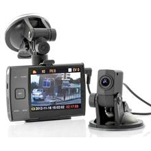 ★ 3.5 Inch LCD HD 720p Dual Camera Car DVR (WCR-14)