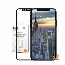 iPhone X / 7 8 / 7 Plus 8 Plus - Orzly Pro-Fit 2X Tempered Glass