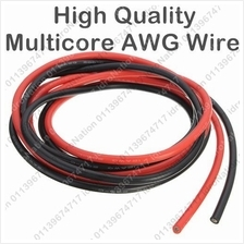 AWG10 Electric Silicone Flexible Multicore Wire Cable AWG 10 Black Red