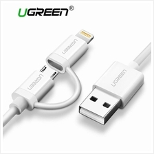 Ugreen 2 in 1 USB Cable for iPhone 7 6 Samsung Mobile Phone Data Cable