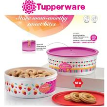 Tupperware Blushing Pink Big Cookie Canisters (1.75L) - 1pcs