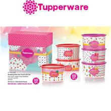 Tupperware Blushing Pink One Touch Topper (950ml) - 1 pcs