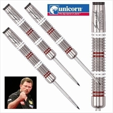 UNICORN STEEL TIP DARTS - JAMES WADE SILVER STAR 80% TUNGSTEN [28g]