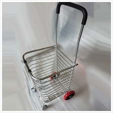 Foldable Shopping Grocery Trolley Shopping Cart Upgrade PU Wheel