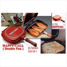 Happy Call Non Stick Double Sided Fry / Grill Pan 32cm JUMBO HappyCall