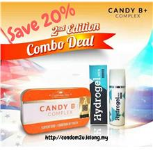 New B+ Complex Candy (1tin) + Hydrogel Men Gel Tahan Lama (1btl)
