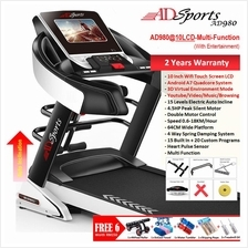 4.5HP ADSports AD980 LCD Electric Motorized Treadmill Auto Incline