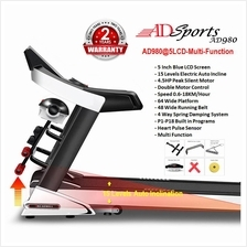ADSports AD980 4.5HP Auto Incline 4Way Spring, Auto Refuel Treadmill