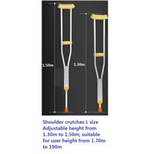 Shoulder crutches 1 pair tongkat ketiak L adj.height 130-150cm