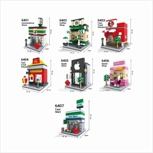 Lego - HSANHE Lego Compatible Mini Street / Cartoon Street City Buildi