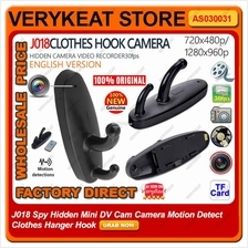 J018 Spy Hidden Mini DV Cam Camera Motion Detect Clothes Hanger Hook