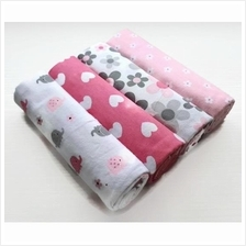 Baby Flannel Receiving Blanket 4-Piece Pack