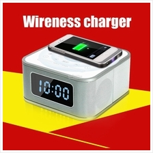 Home Hifi SD USB Alarm BT FM speaker AUX MP3 QI phone Wireness charger