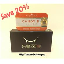 New B+ Complex Candy (1tin) + Love Show Delay Condom (1box)